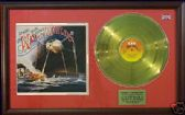 WAR OF THE WORLDS LP -24 carat gold disc and cover